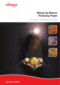 Mining and Mineral Processing Pumps