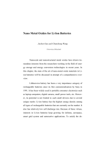 1 Nano Metal Oxides for Li-Ion Batteries Juchen Guo and