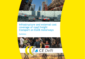 Infrastructure and external cost coverage of road freight
