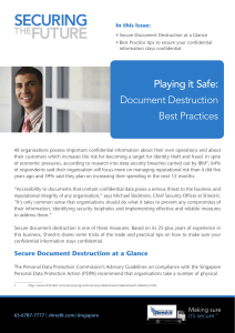 Playing it Safe: Document Destruction Best Practices - Shred-it