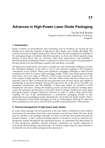 Advances in High-Power Laser Diode Packaging
