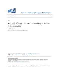 The Role of Women in Athletic Training - Skyline