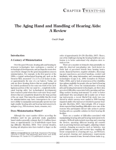 The Aging Hand and Handling of Hearing Aids: A Review