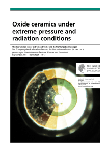 Oxide ceramics under extreme pressure and radiation conditions