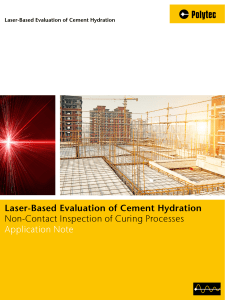 Laser-Based Evaluation of Cement Hydration Non