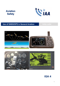 Use of GNSS/GPS in General Aviation