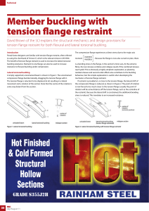 Member buckling with tension flange restraint