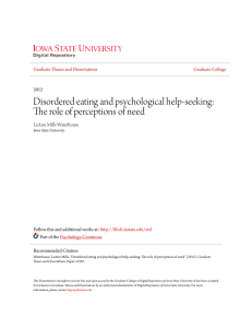 Disordered eating and psychological help-seeking