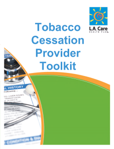 Tobacco Cessation Provider Toolkit