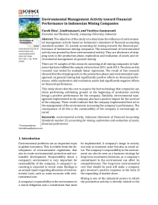 Environmental Management Activity toward