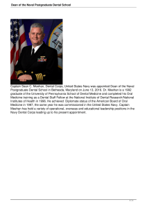 Dean of the Naval Postgraduate Dental School