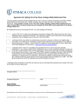 Agreement for Opting Out of the Ithaca College 403(b) Retirement Plan