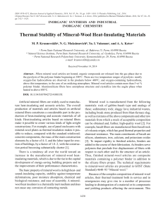 Thermal Stability of Mineral-Wool Heat-Insulating
