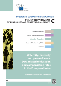 Maternity, paternity and parental leave: Data related to duration and