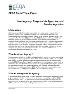 Lead Agency Responsible Trustee 03-23-16