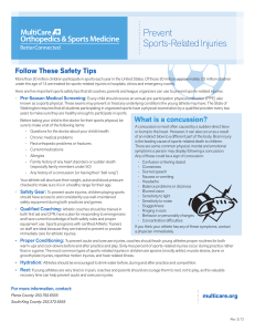 Prevent Sports-Related Injuries