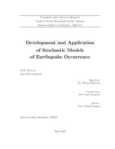 Development and Application of Stochastic Models of Earthquake