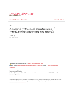 Bioinspired synthesis and characterization of organic/inorganic