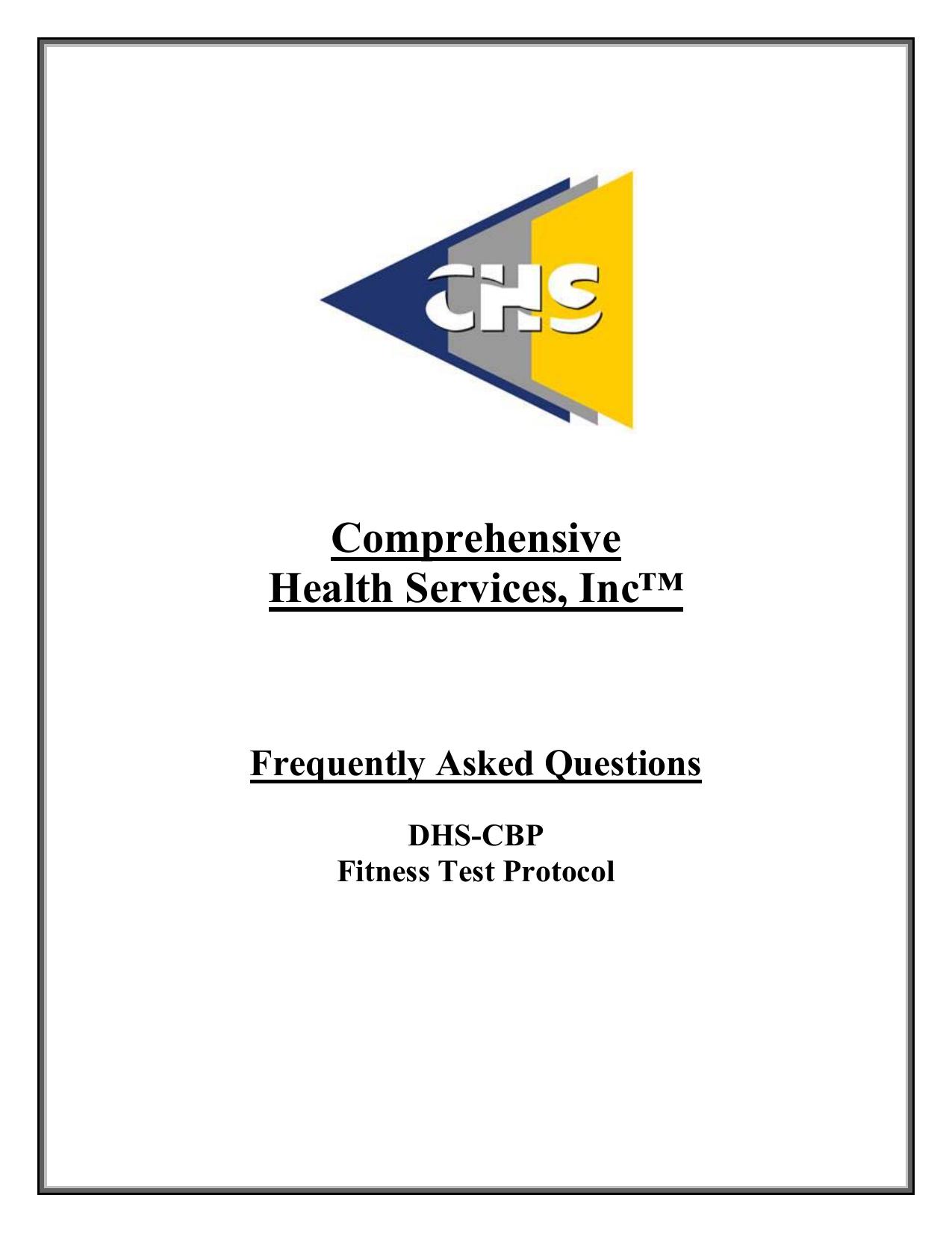 Comprehensive Health Services, Inc™