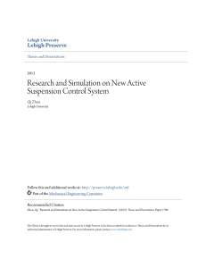 Research and Simulation on New Active Suspension Control System