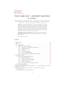 Least angle and 1 penalized regression: A review