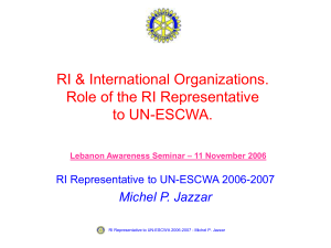 United Nations - RI Representative to UN-ESCWA
