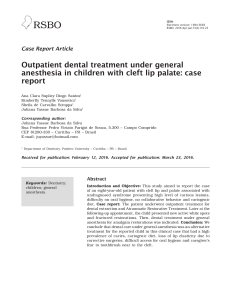Outpatient dental treatment under general anesthesia in children