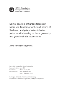 Seimic analysis of Carboniferous rift basin and Triassic growth