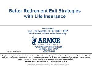 Better Retirement Exit Strategies with Life Insurance