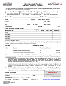 FSA Enrollment Form w/Direct Deposit