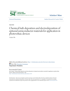 Chemical bath deposition and electrodeposition of