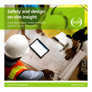 Safety and design: on-site insight