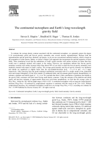The continental tectosphere and Earth`s long