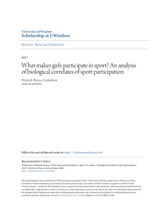 What makes girls participate in sport? An analysis of biological