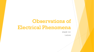 Observations of Electrical Phenomena