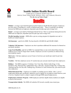 Benefits - Seattle Indian Health Board