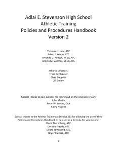 Athletic Training Manual