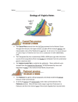 Geology of Virginia Notes