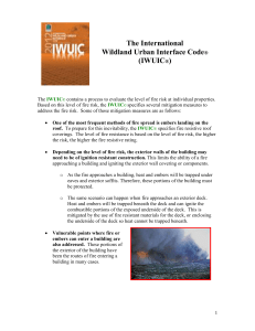 iwui code talking points - International Association of Wildland Fire