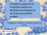 Inhalation exposure to transition metals can facilitate sensitization to