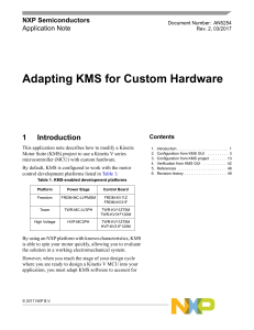 Adapting KMS for Custom Hardware