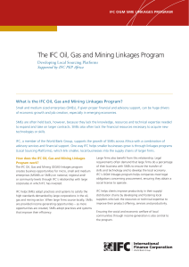 The IFC Oil, Gas and Mining Linkages Program