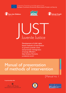 Manual of presentation of methods of intervention