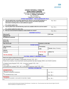 Nov 2015 - Suspected Head and Neck NICE Referral Form V.7.