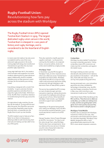 Rugby Football Union: Revolutionising how fans pay