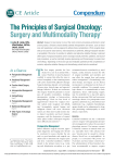 The Principles of Surgical Oncology: Surgery and Multimodality