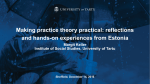 Making practice theory practical: reflections and hands