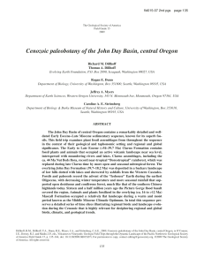 Cenozoic paleobotany of the John Day Basin, central Oregon