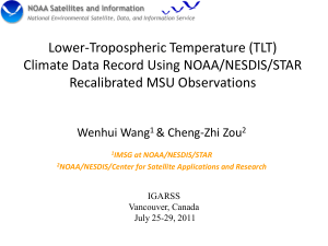 Inter-Satellite Calibration of Microwave Sounders for - IEEE-GRSS