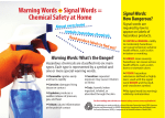Warning Words + Signal Words = Chemical Safety